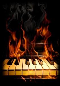 клавиши горят